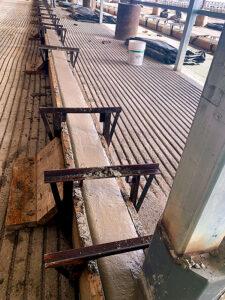 Siebrand Heifer barn concrete curing for calf stalls.