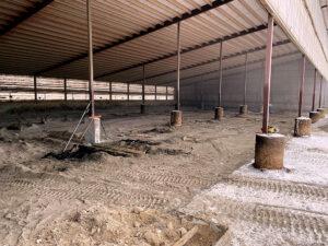 Siebrand Heifer barn concrete prep.