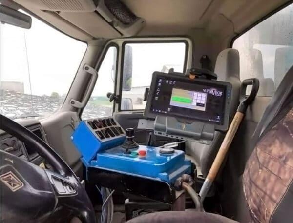 Used PATZ 2400 Series II Truck Mixer cockpit view.