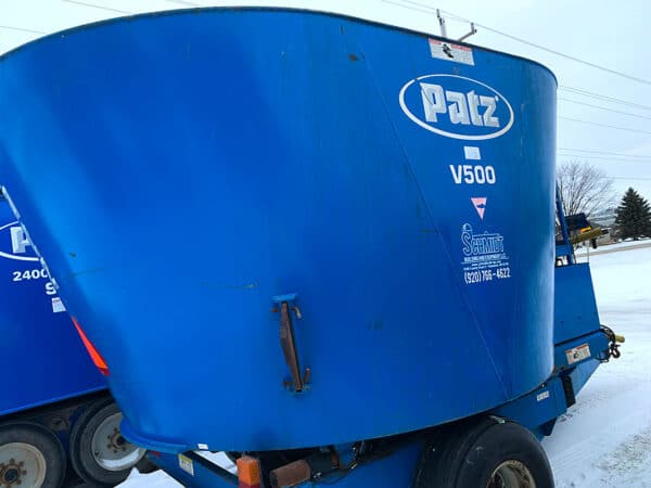 Used PATZ 500 Trailer Mixer side.