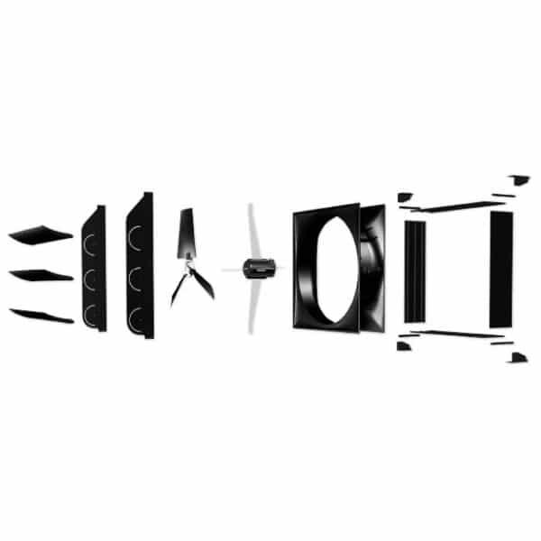 J&D AirBlaster Recirculation Fan parts diagram.