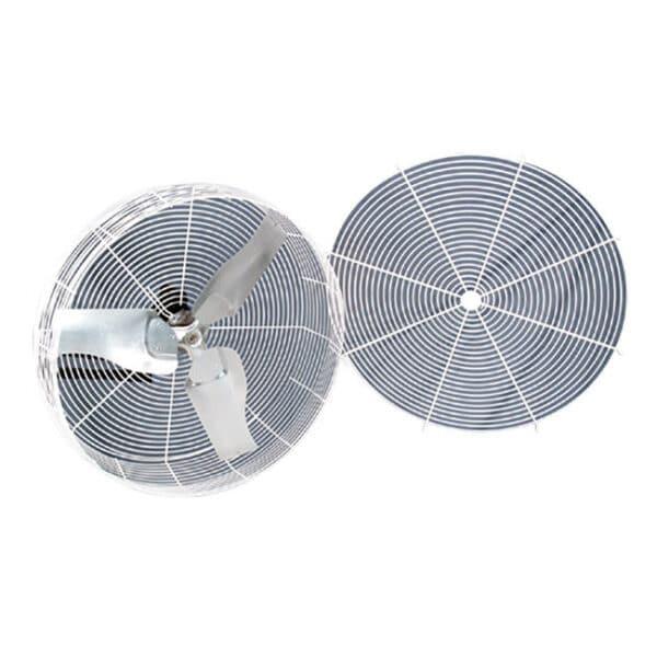 J&D Barnstormer Recirculating Fan open front sections.