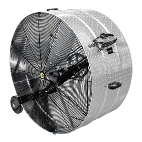 "J&D Diamond Brite™ Portable Drum Fan (42"")."