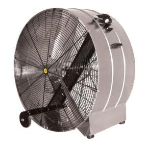 J&D Galvanized Portable Drum Fan.