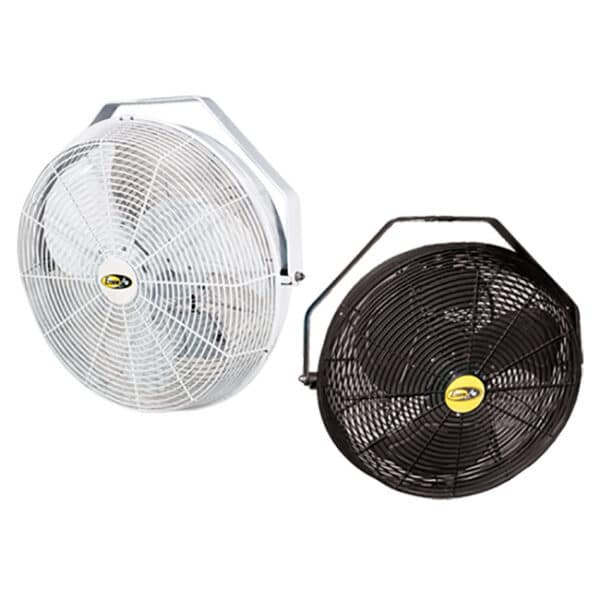 J&D Indoor/Outdoor UL507 Certified Wall, Ceiling or Pole Mount Fan (2 colors: White or Black).
