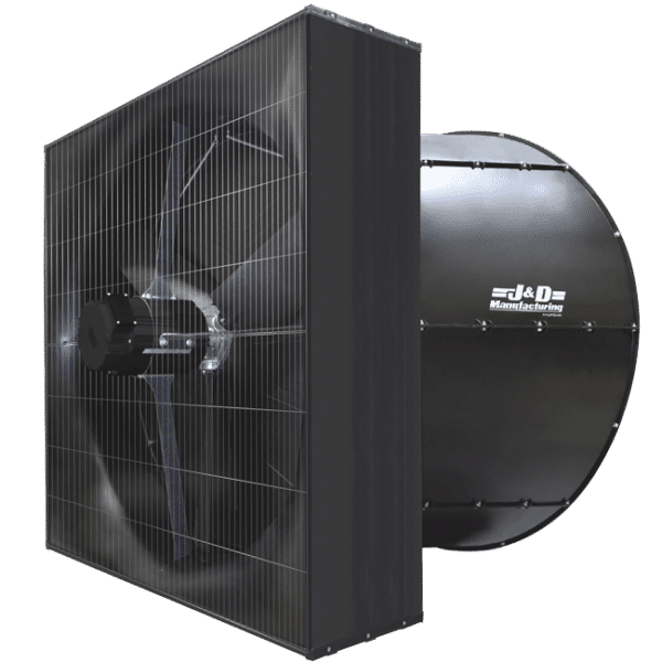 J&D Magnum Exhaust Fan rear angle view.