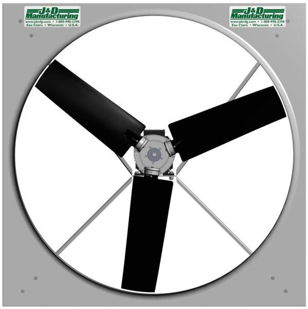 J&D Permanent Magnet Direct Drive Panel Fan (50 plus inch model).