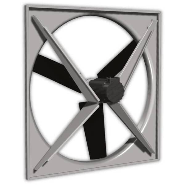 Back view of the J&D Permanent Magnet Direct Drive Panel Fan (50 plus inch model).