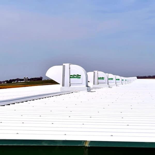 J&D Ridge Fan roof vent exhaust system.