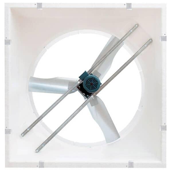 """J&D Storm Torque 55"""" Fiberglass Exhaust Fan (back view)."""