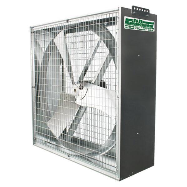 J&D Whirl-Wind galvanized box fan.